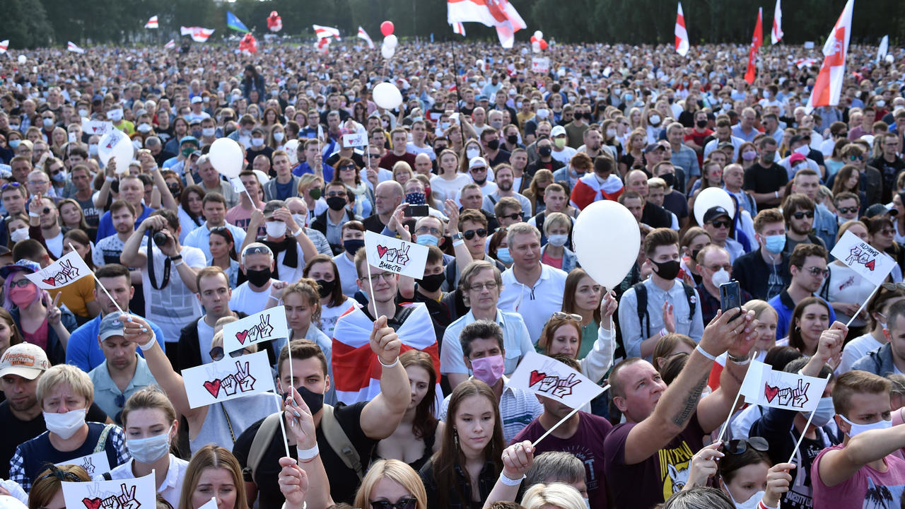 Photo of Rally for opposition leader in Belarus draws huge crowd
