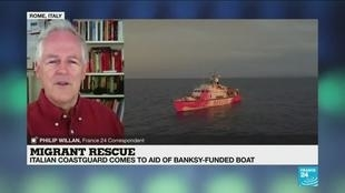 Photo of All migrants moved off Banksy-funded rescue vessel stranded in Mediterranean