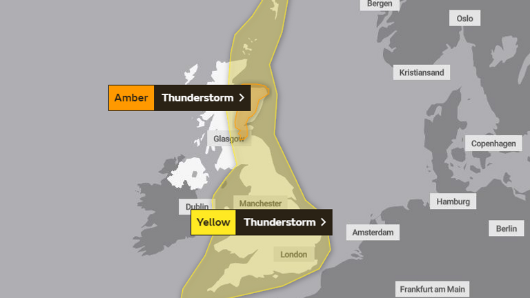 Photo of Thunderstorm and flood warnings issued as heatwave continues