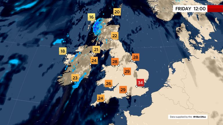 Photo of Temperatures could rise above 37C today – with stifling heat to continue throughout the weekend