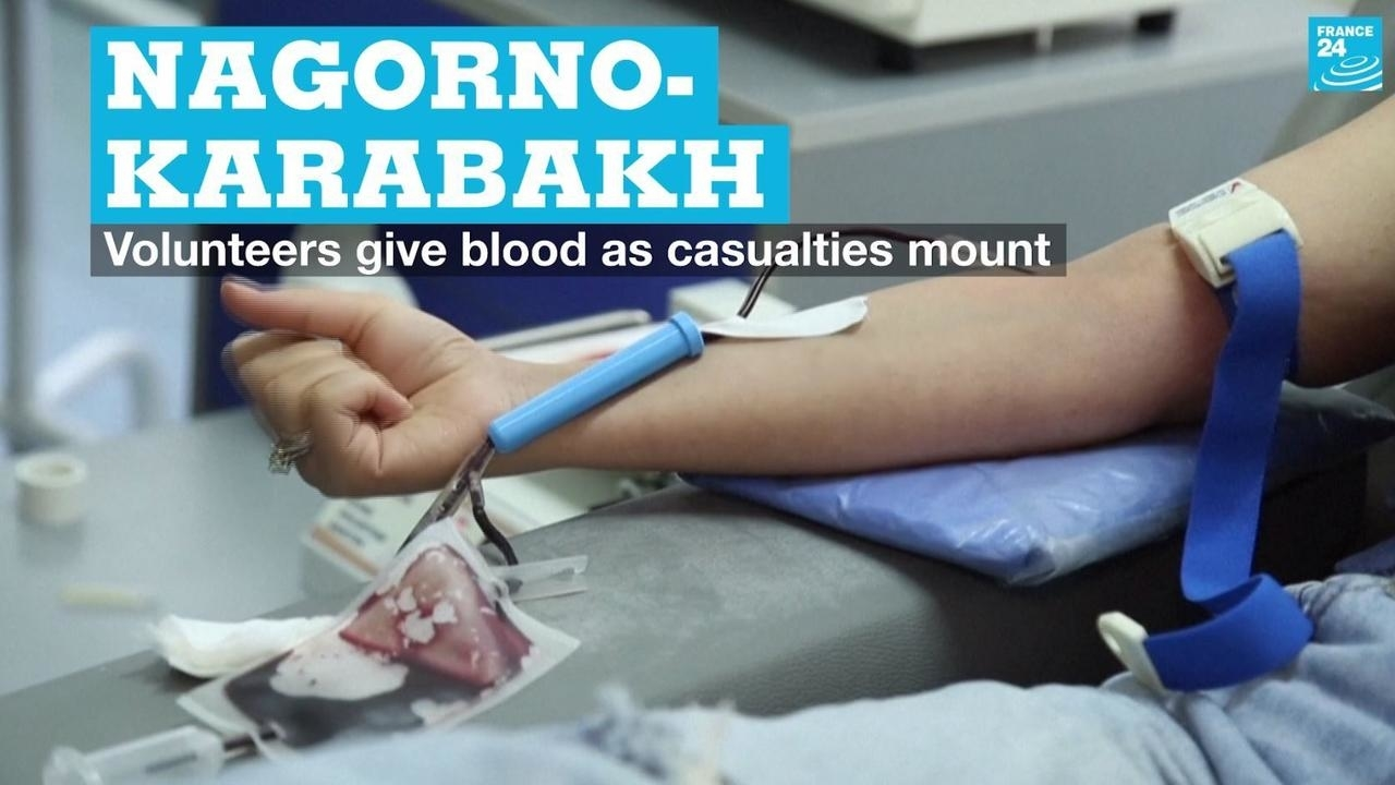 Photo of Nagorno-Karabakh: Volunteers give blood as casualties mount