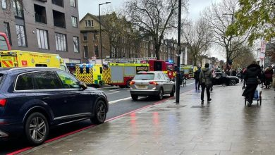 Photo of Five injured, one seriously, after car mounts pavement in London