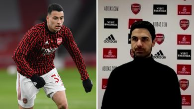 Photo of Gabriel Martinelli: Mikel Arteta gives update on Arsenal forward's ankle injury